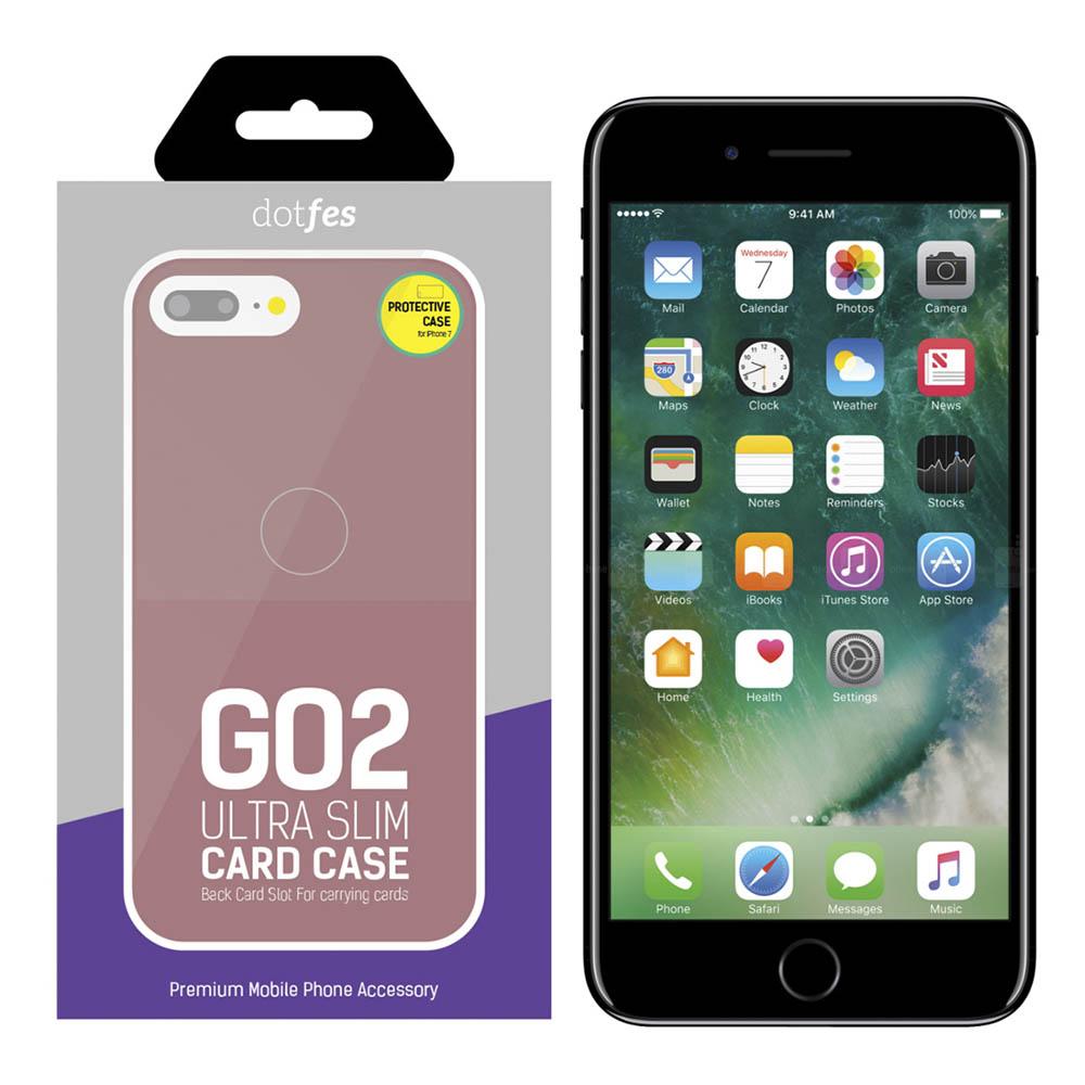 Чехол Dotfes G02 Carbon Fiber Card Case для iPhone 7/8 (rose gold)