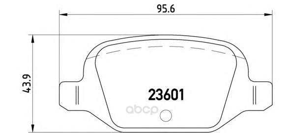 Тормозные колодки дисковые brembo P23064