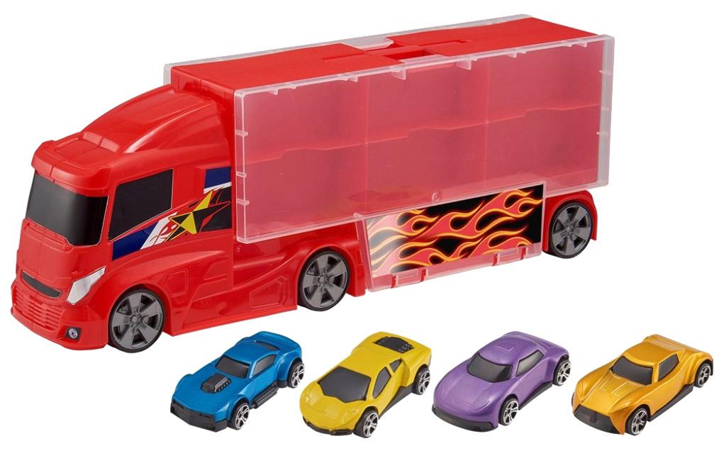 Игровой набор TEAMSTERZ Грузовик-гараж и 4 машинки
