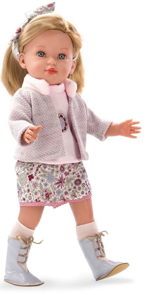 Кукла Arias ELEGANCE мягконабивная с пластиковым каркасом внутри 49 см