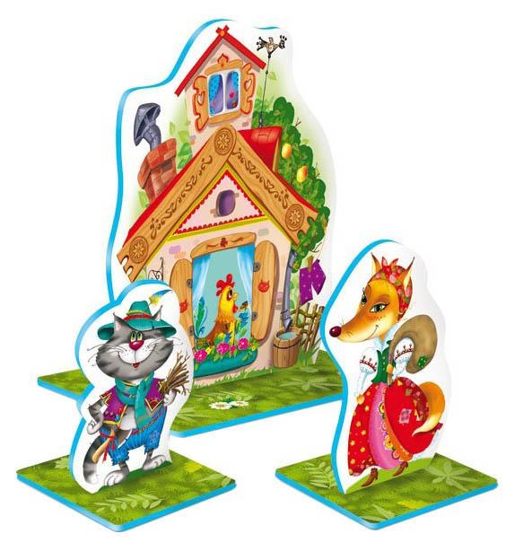 Кукольный театр Десятое Королевство настольный Кот петух и лиса