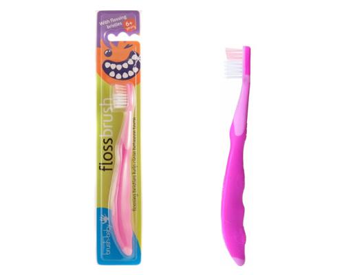 Детская зубная щетка Brush-Baby FlossBrush с 6 лет розовый BRB079