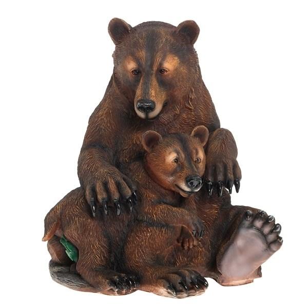 NONAME Фигура садовая Два медведя Н50 см.