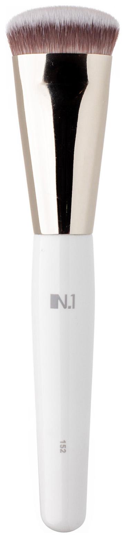 Кисть для макияжа N.1 Плоская для контуринга лица из ворса таклон №152
