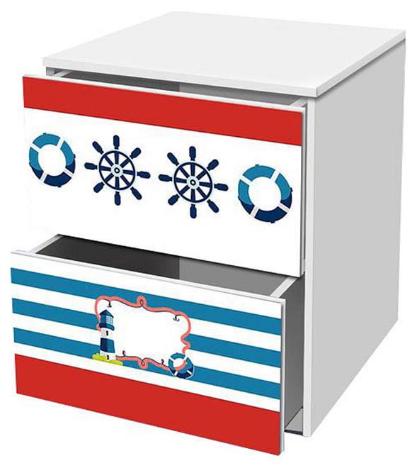 Купить Отважный моряк TOM03, Тумбочка Кровати-машины Отважный моряк KMA_TOM03, Детские тумбы