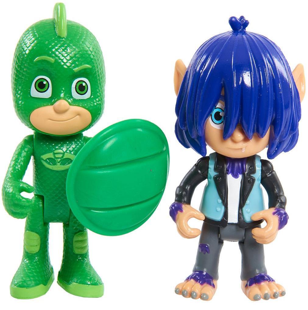 Игровой набор Герои в Масках PJ Masks Гекко и волчонок Кевин 2 фигурки, 8 см,  - купить со скидкой
