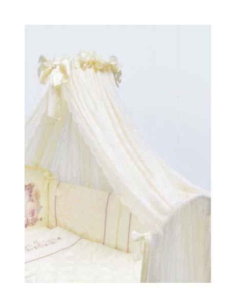 Балдахин для детской кроватки Золотой гусь молочный