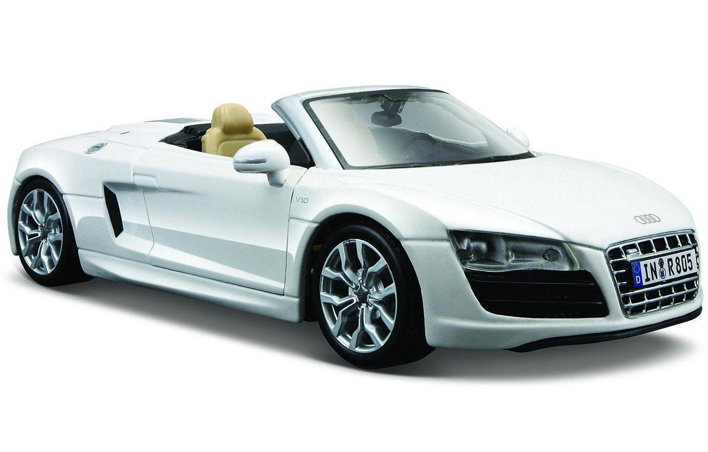 Купить Машинка Maisto 1:24 Audi R8 Spyder белая, Коллекционные модели