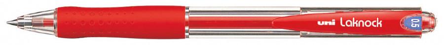 Ручка шариковая UNI Laknock SN-100 (05). Линия письма: 0,5 мм. Цвет чернил: красный.
