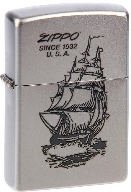 Зажигалка Zippo №205 Boat-zippo Satin Chrome фото
