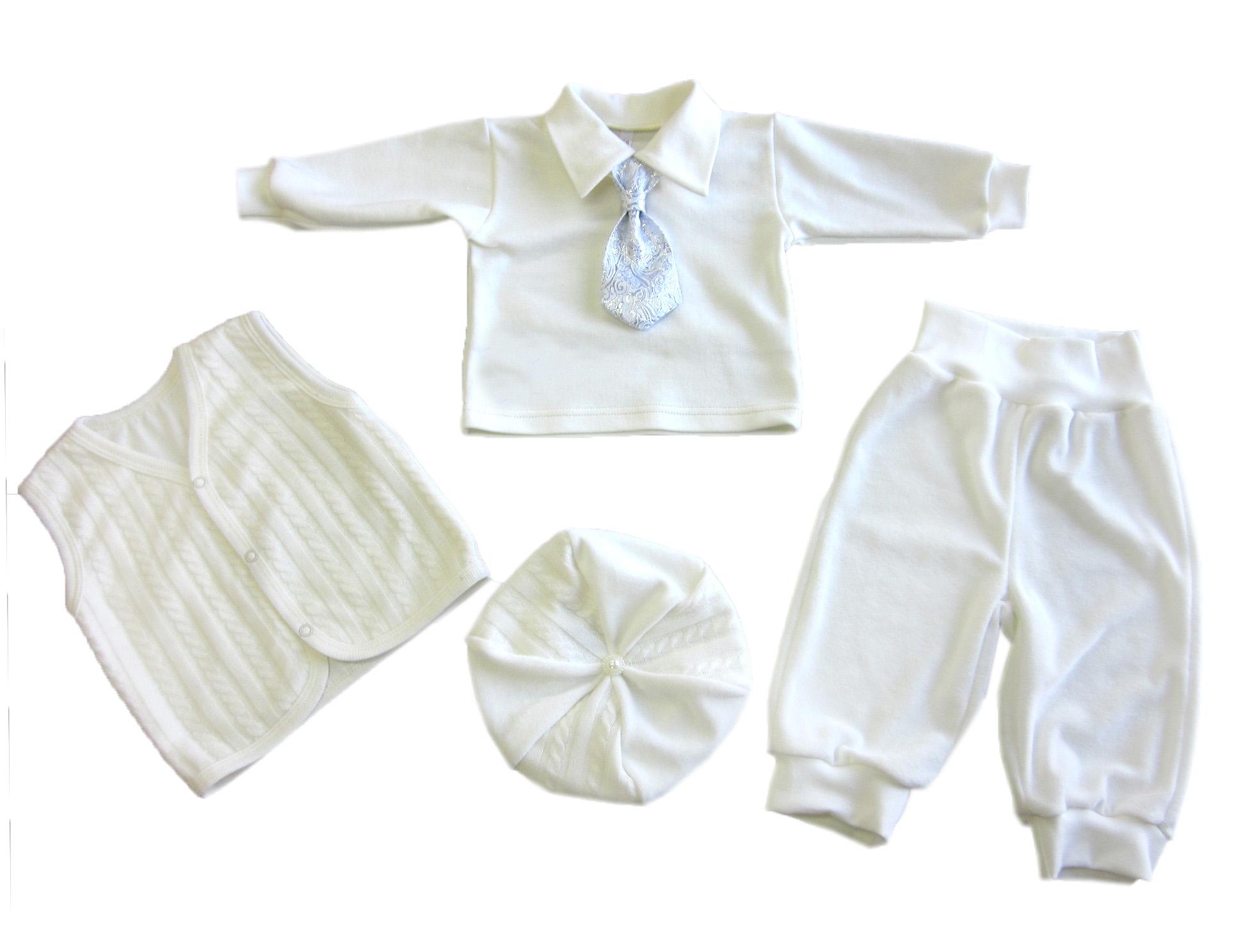 Комплект одежды для мальчиков Осьминожка 818-289-20/62 белый р.