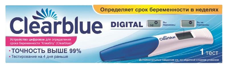 Тест на беременность Clearblue Digital цифровой