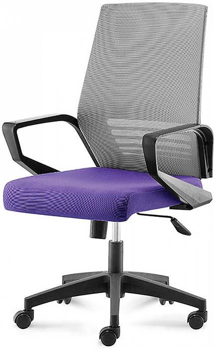 Офисное кресло Эрго-Black-LB фиолетовый