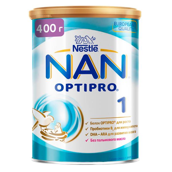 Купить Молочная смесь Nestle NAN 1 с 0-6 мес., 400 г, Детские смеси 1 (с рождения)