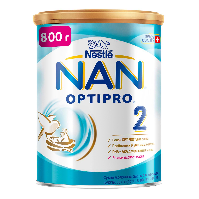 Купить Молочная смесь NAN 2 для детей 6-12 мес. 800 г, Детские смеси 2 (от 6 до 12 мес)