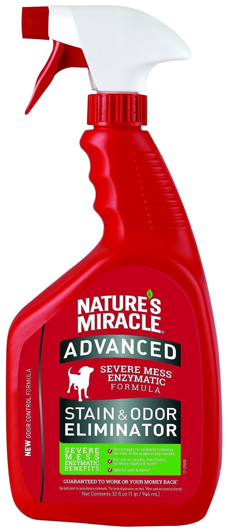 Уничтожитель пятен и запахов от собак Nature's Miracle ADV Dog Stain&Odor Eliminator 946мл фото