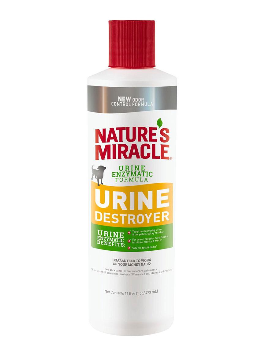 Уничтожитель пятен, запахов и осадка от мочи собак Nature's Miracle Urine Destroyer, 473мл