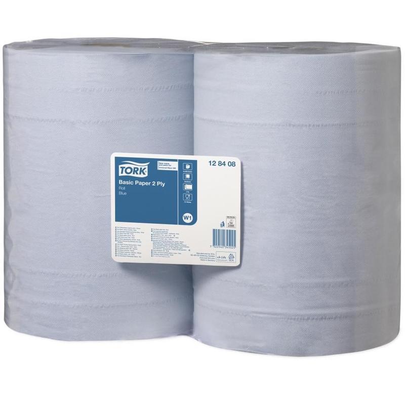 Купить Бумага протирочная TORK 128408 34х36, 9 см 2-слойная 1000 листов в рулоне голубая