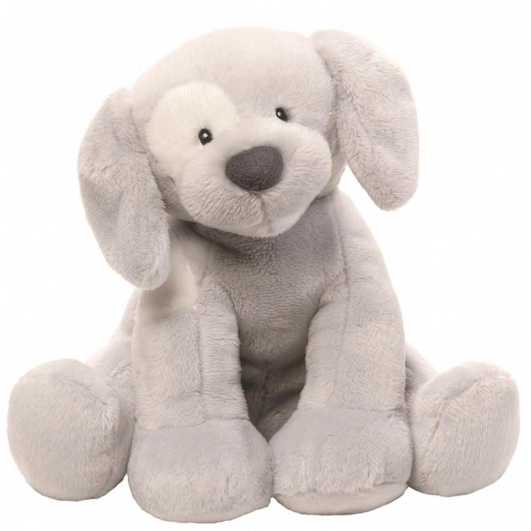 Купить 266654, Игрушка мягкая Gund Spunky Dog Keywind Grey собачка 20, 5 см, Мягкие игрушки животные