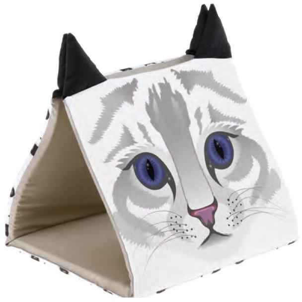 Домик для кошек Ferplast Pyramid, белый, 43x39x38см