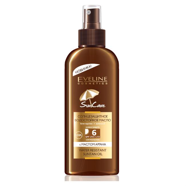 Солнцезащитное водостойкое масло Eveline Sun Care SPF6