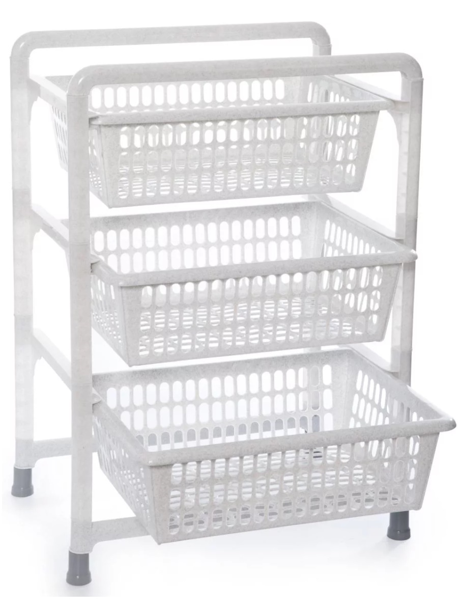 Этажерка Полимербыт C126 45х31х63 см, белый