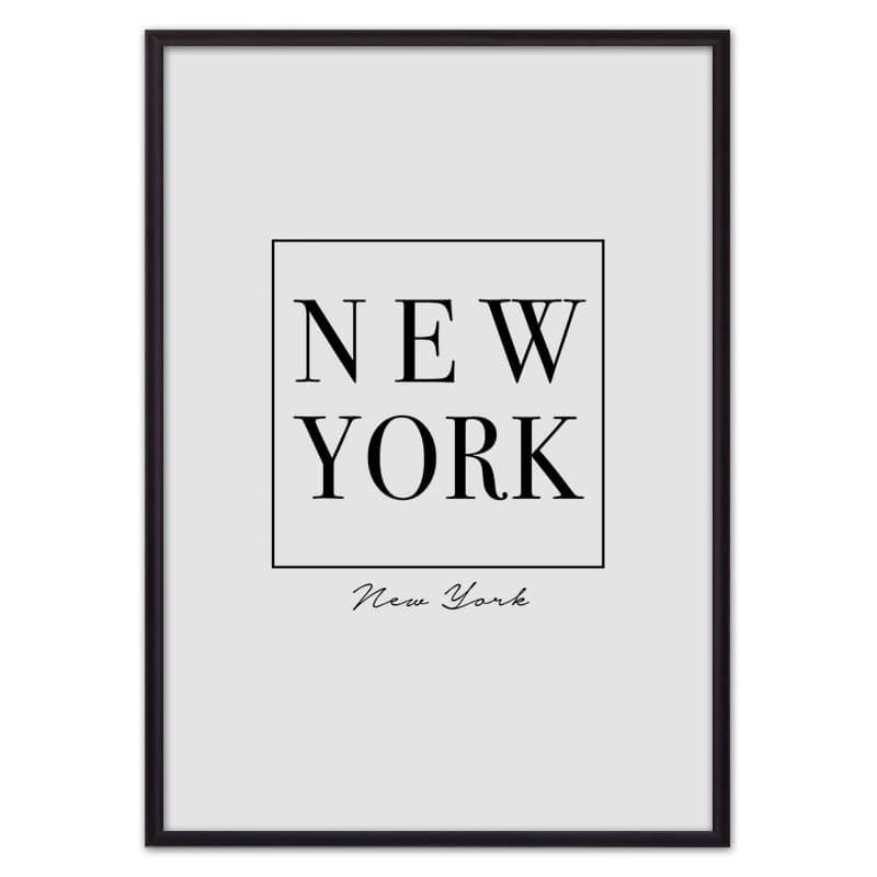 Постер в рамке New York 40х60 см