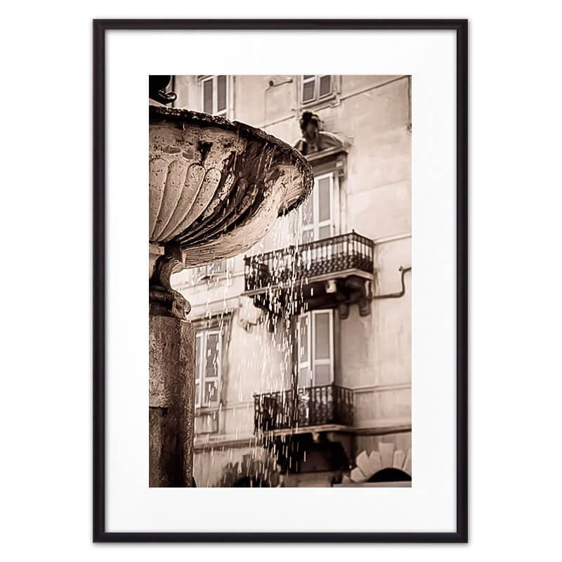 Постер в рамке Римский фонтан 50х70 см