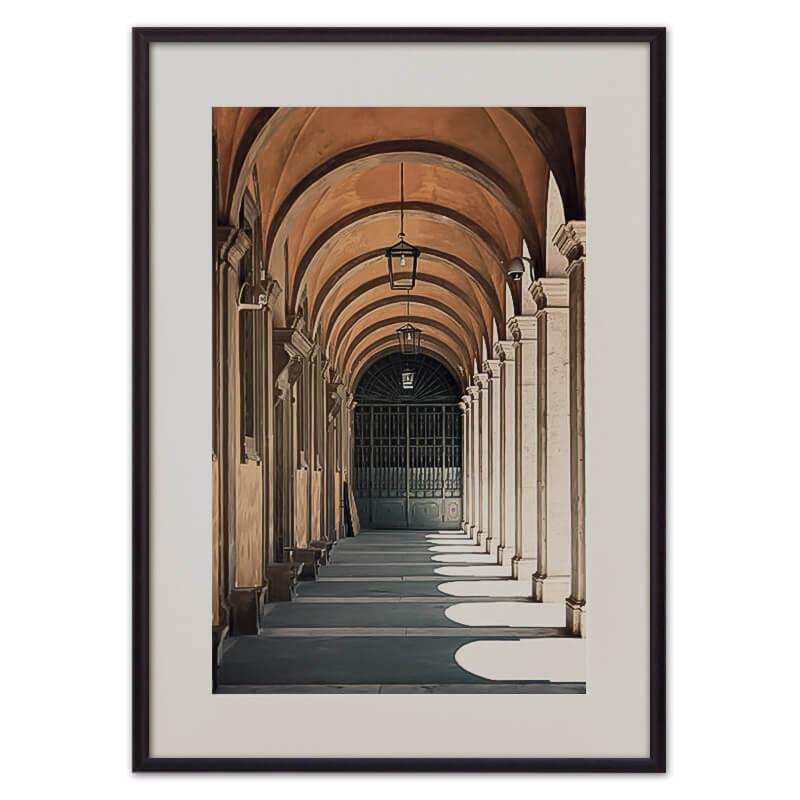 Постер в рамке Портик Сант-Иво 40 х 60 см Дом Корлеоне фото