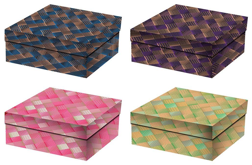 Набор подарочных картонных коробок (3 штуки)