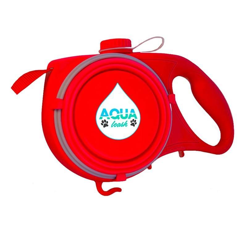 Рулетка с поилкой для собак Aqua Leash,