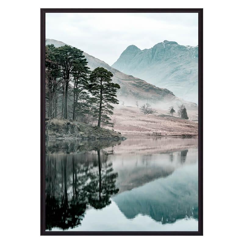 Постер в рамке Озеро 50х70 см