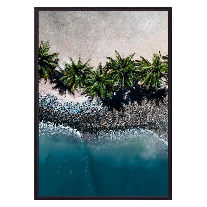 Постер в рамке Пальмы на пляже 40х60