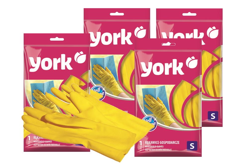 Перчатки резиновые York размер S набор