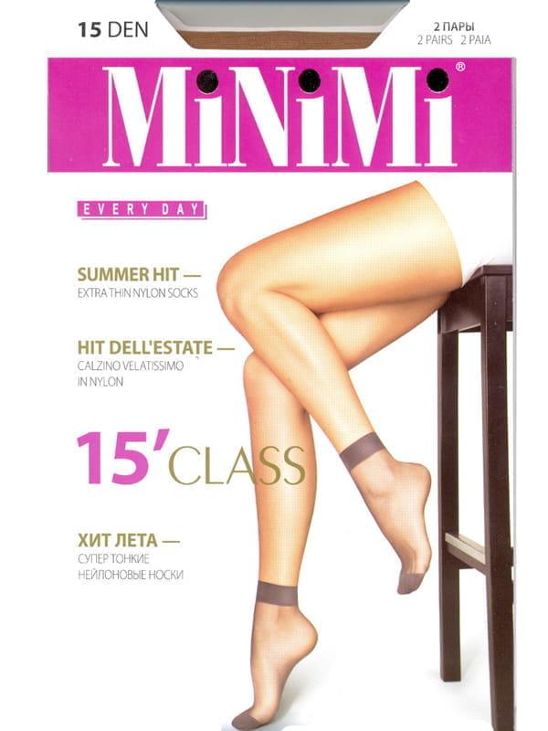 Капроновые носки женские MiNiMi CLASS-N 15 бежевые унив.