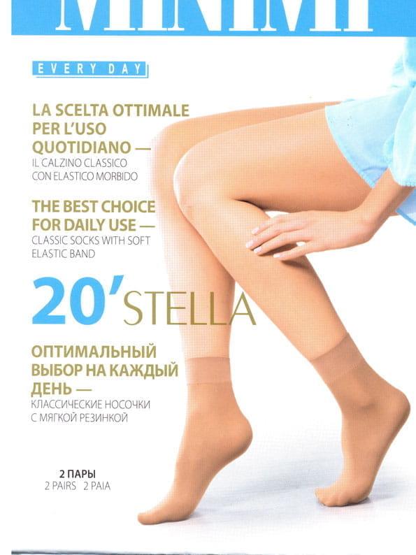 Капроновые носки женские MiNiMi STELLA 20 бежевые унив.