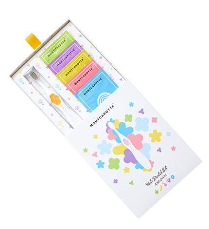Купить MC802, Набор детский подарочный MontCarotte Kids Dental Set Assorti Yellow Желтый Ассорти,