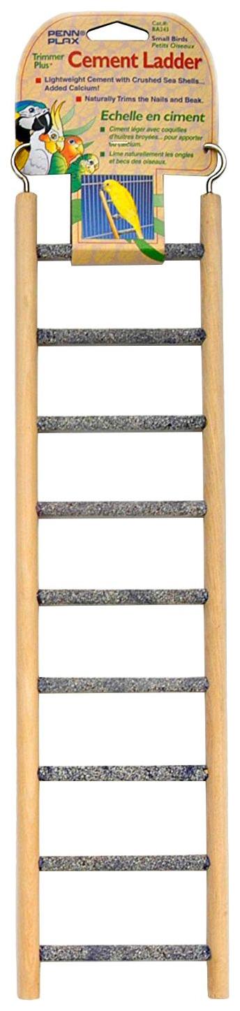 Лестница для птиц Penn-Plax Цемент 9 ступеней, бежево-серая, 9,5х1х38 см Цемент 9 ступеней по цене 598