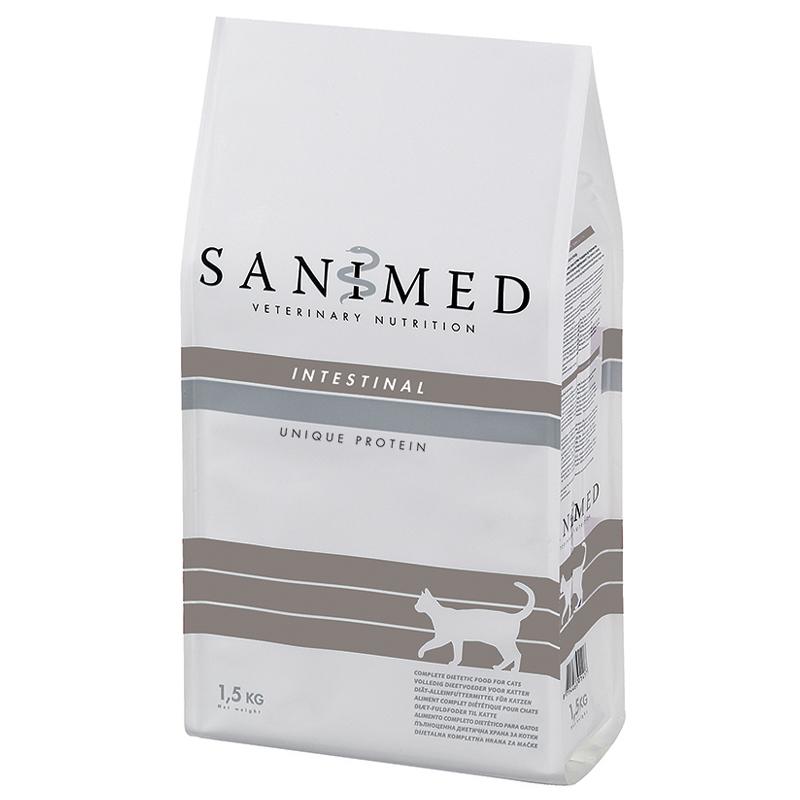 Сухой корм для кошек SANIMED Intestinal, домашняя птица, 1,5кг фото