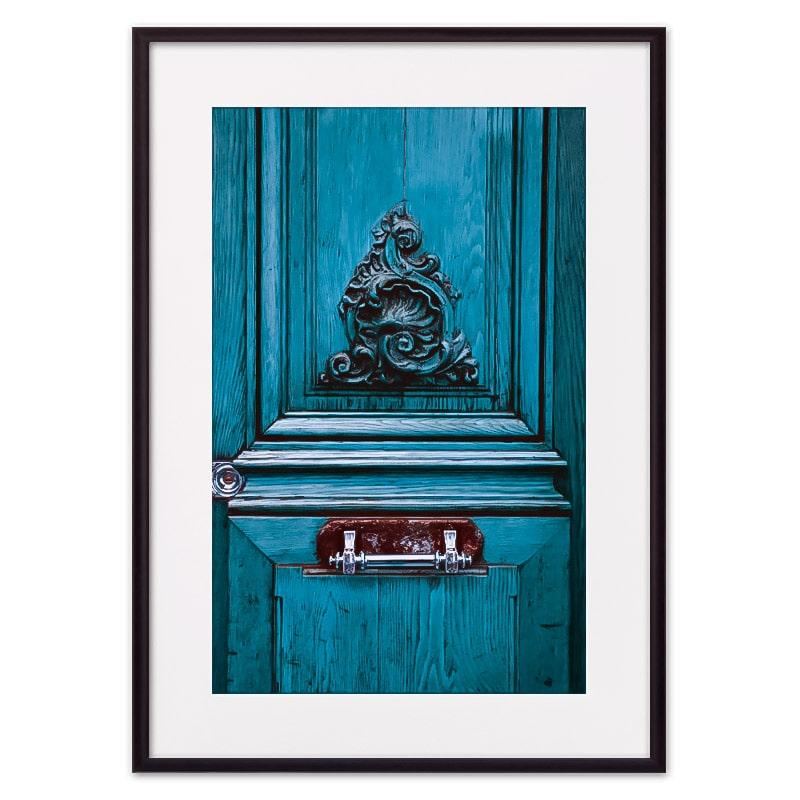 Постер в рамке Старинная дверь Париж 50 х 70 см Дом Корлеоне фото
