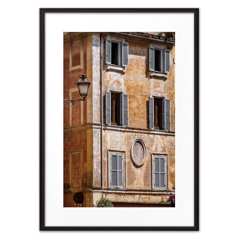 Постер в рамке Старинная дверь Рим 21 х 30 см Дом Корлеоне фото