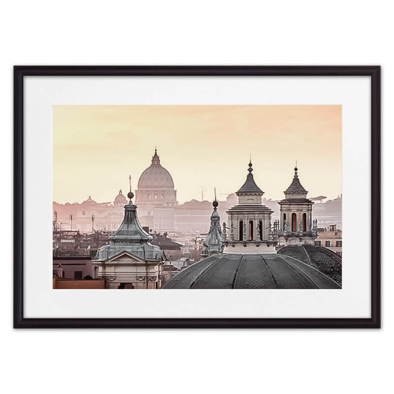 Постер в рамке Римские крыши 50х70 см