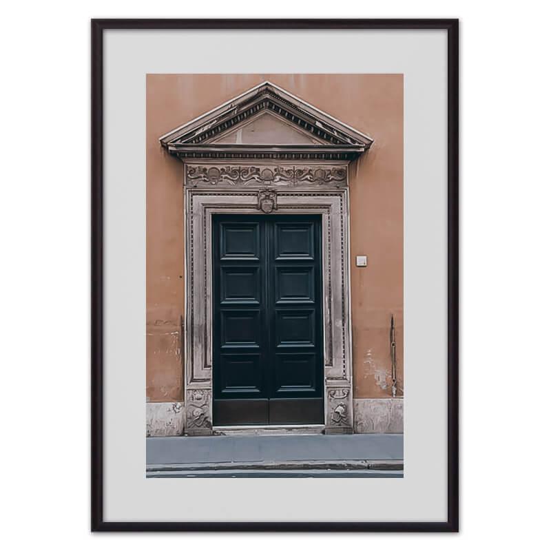 Постер в рамке Винтажная дверь 30х40 см