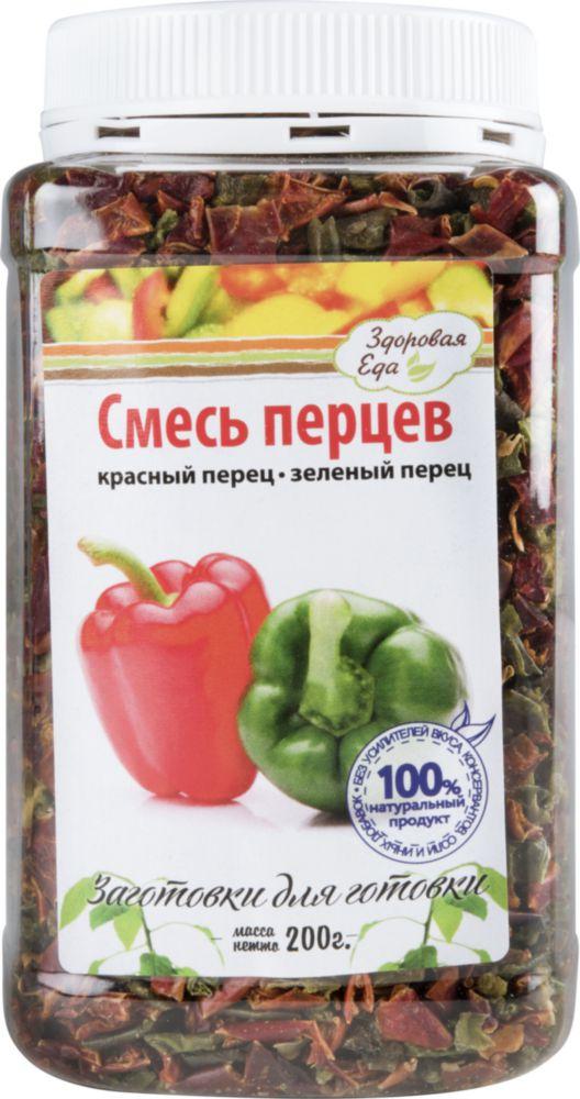 Смесь перцев сушеных Здоровая еда красный и зеленый 200 г фото