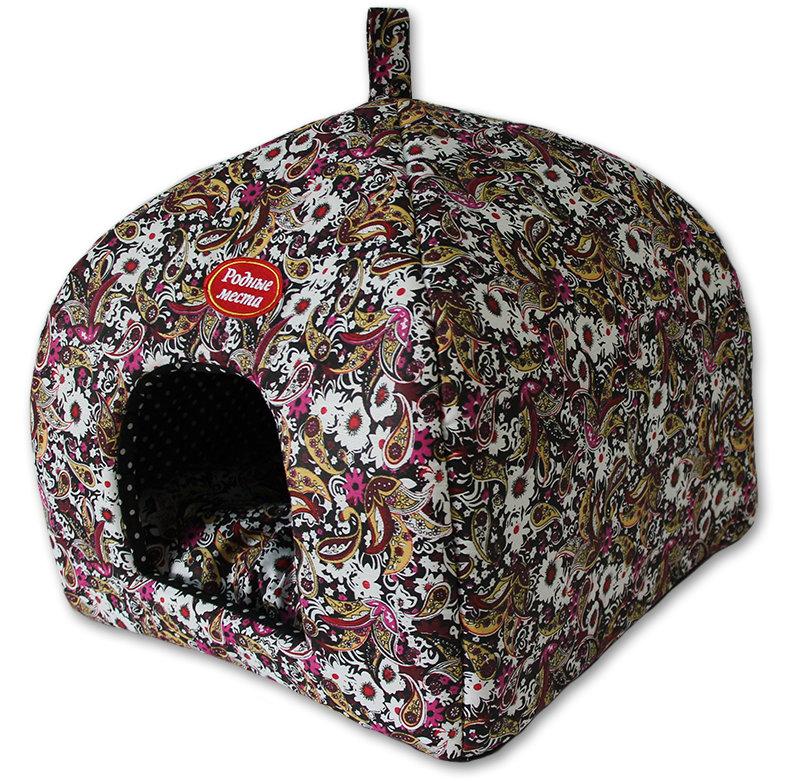 Домик для кошек и собак Родные места Избушка №1 Огурцы, 33x33x42см фото
