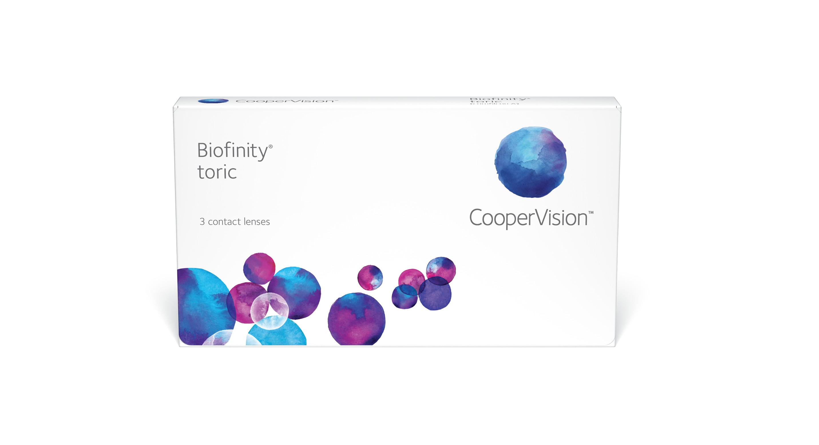 Контактные линзы Biofinity Toric 3 линзы R 8,7 -3,75/-1,25/90 фото