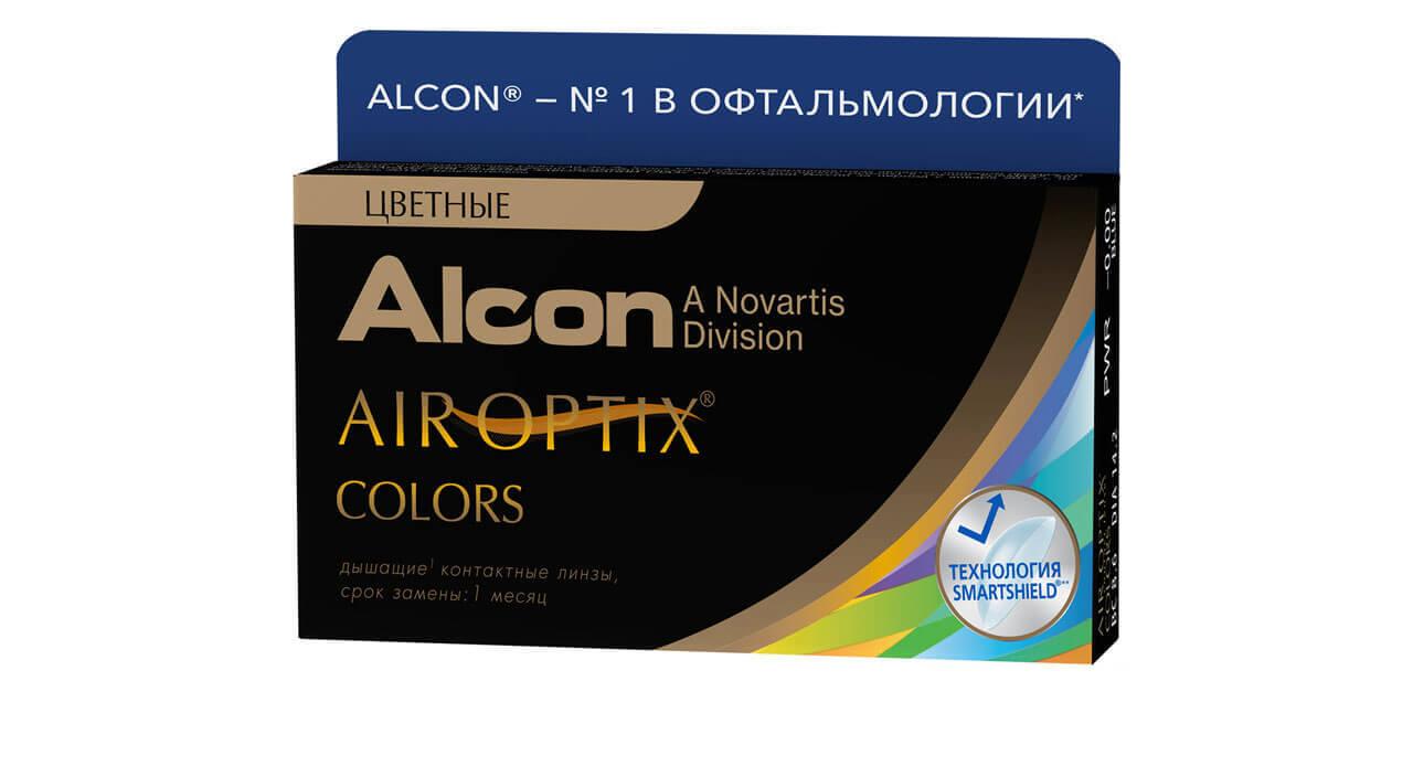 Контактные линзы Air Optix Colors 2 линзы R 8,6 -1,00 Карие