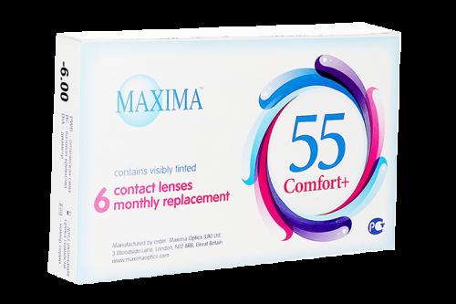 Контактные линзы Maxima 55 Comfort Plus 6 линз R 8,6 -2,25 фото