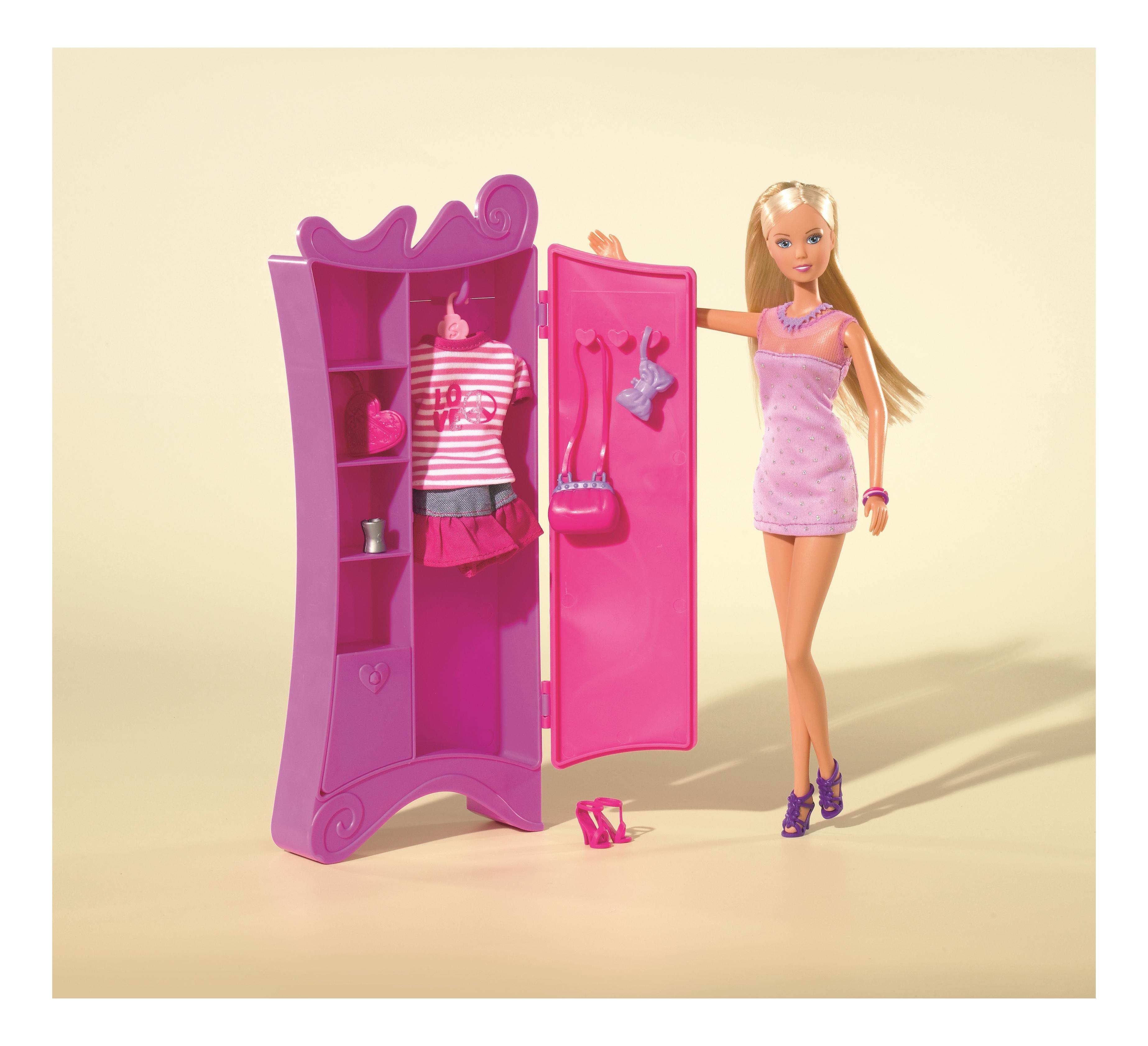 Кукла Simba Штеффи и шкаф с одеждой, 15 аксессуаров 29 см