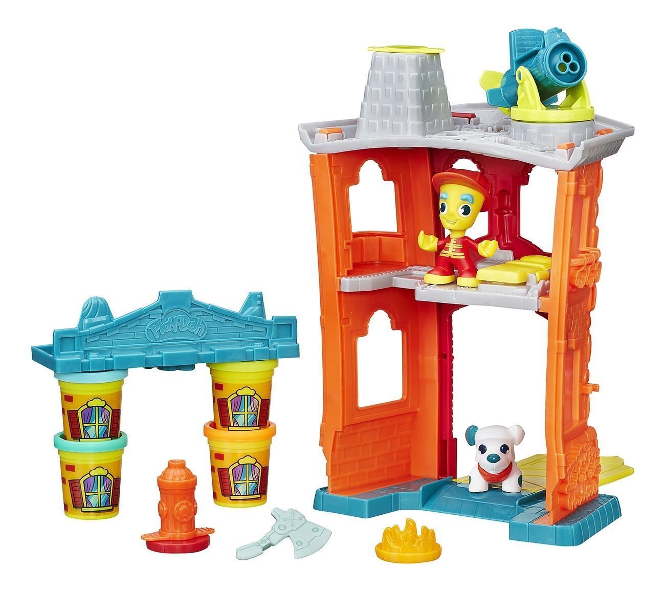 Набор для лепки из пластилина play-doh город пожарная станция b3415